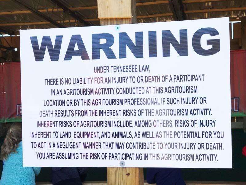 Agritourism Warning